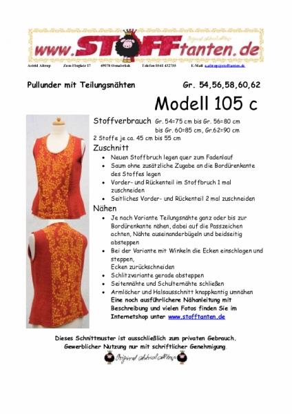 Stofftanten - Schnittmuster Pullunder, Pullover, Kleid